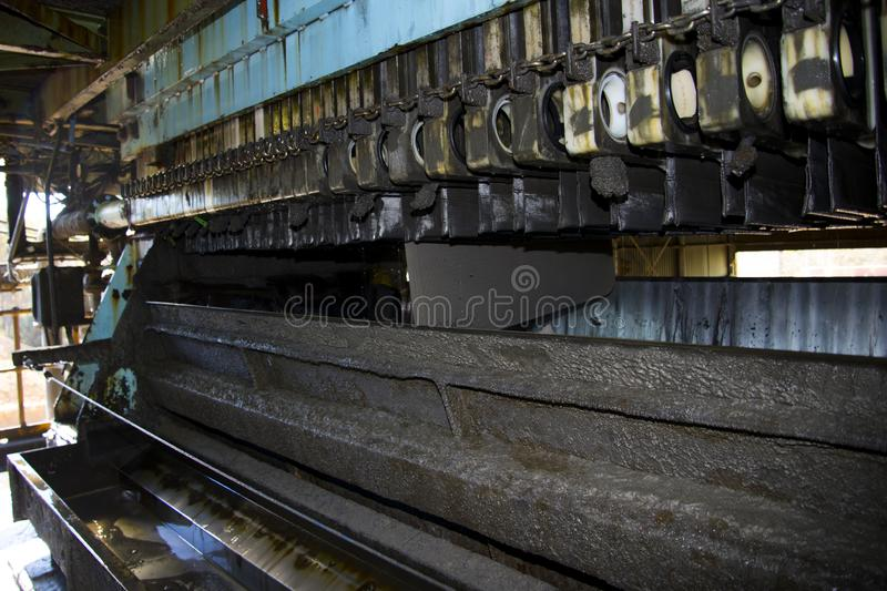 Electrolysis Cells. In Mineral Processing royalty free stock photos