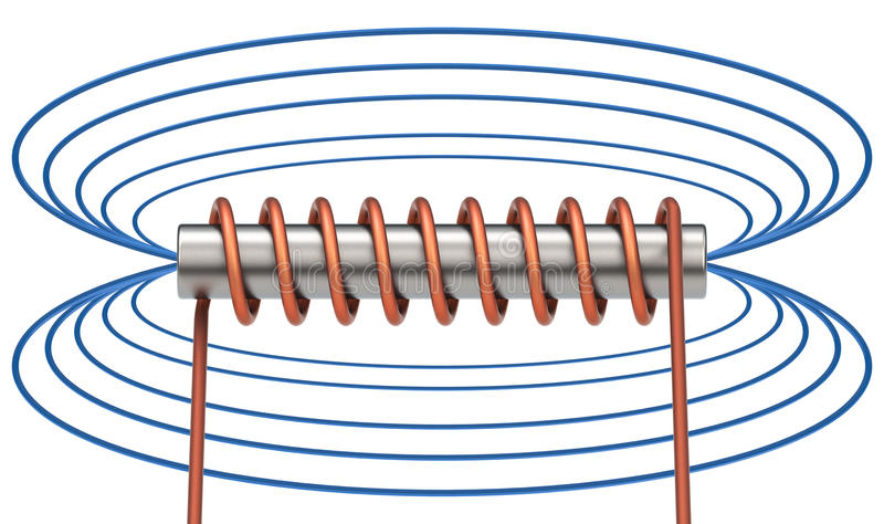 The electromagnetic field royalty free illustration