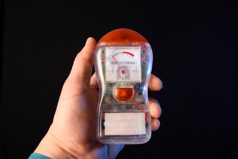 Electromagnetic Field Detector. Or EMF detector stock image