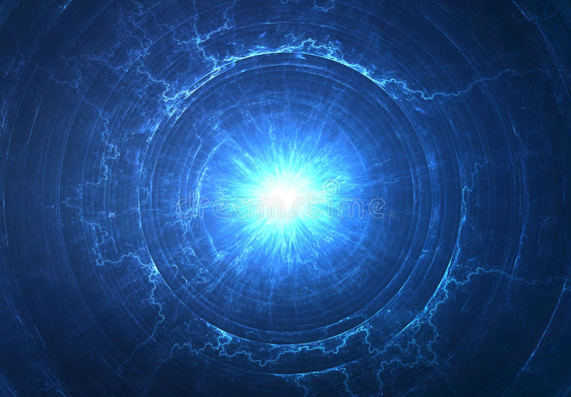 Electromagnetic field. Nuclear radioactive core stock image