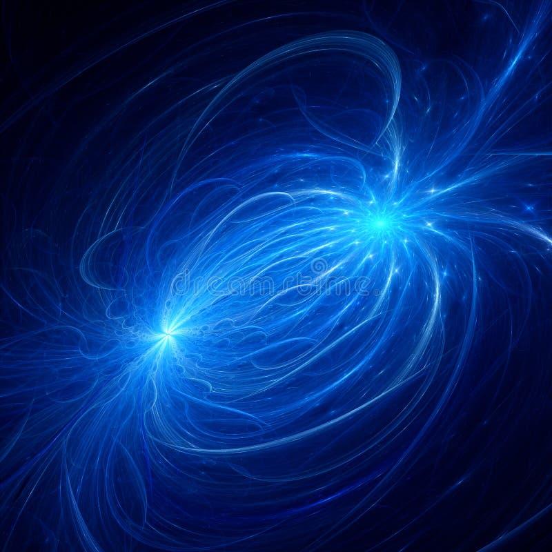Electromagnetic plasma field royalty free illustration