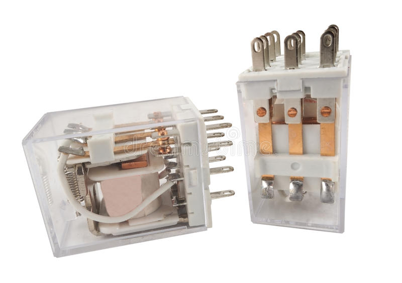 The electromagnetic relay. Isolated on white background royalty free stock photos