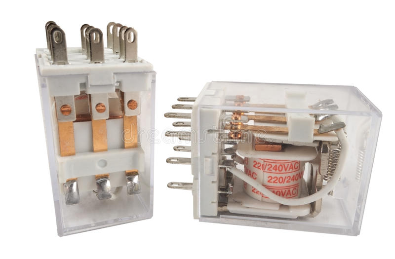 The electromagnetic relay. Isolated on white background royalty free stock images