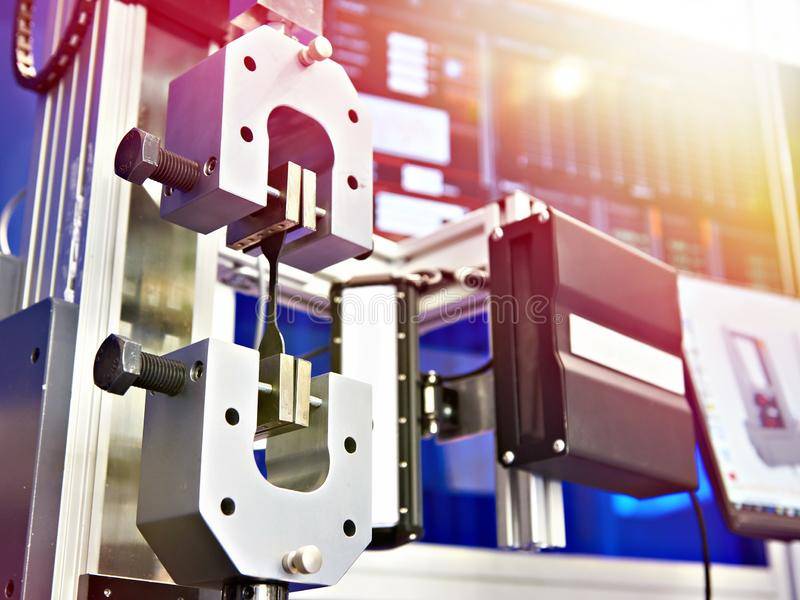 Electromechanical machines for testing metal for tensile. Electromechanical machines for testing metals for tensile, compression royalty free stock image