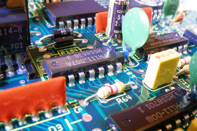 Electronic royalty free stock photo