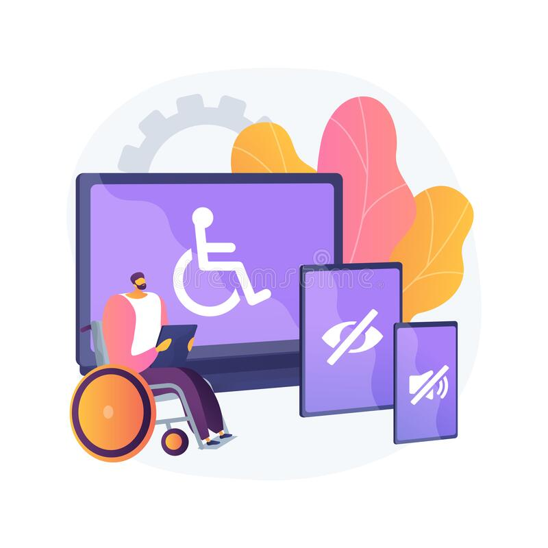 Free Electronic Accessibility Abstract Concept Vector Illustration. Stock Photo - 189707090