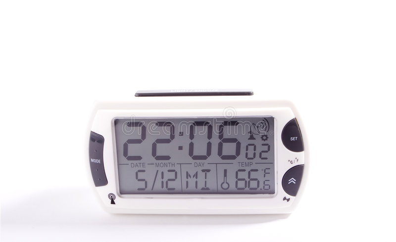 Electronic alarm clock stock image