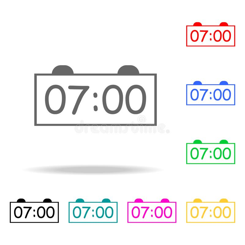 electronic alarm clock icon. Elements of School and study multi colored icons. Premium quality graphic design icon. Simple icon fo vector illustration