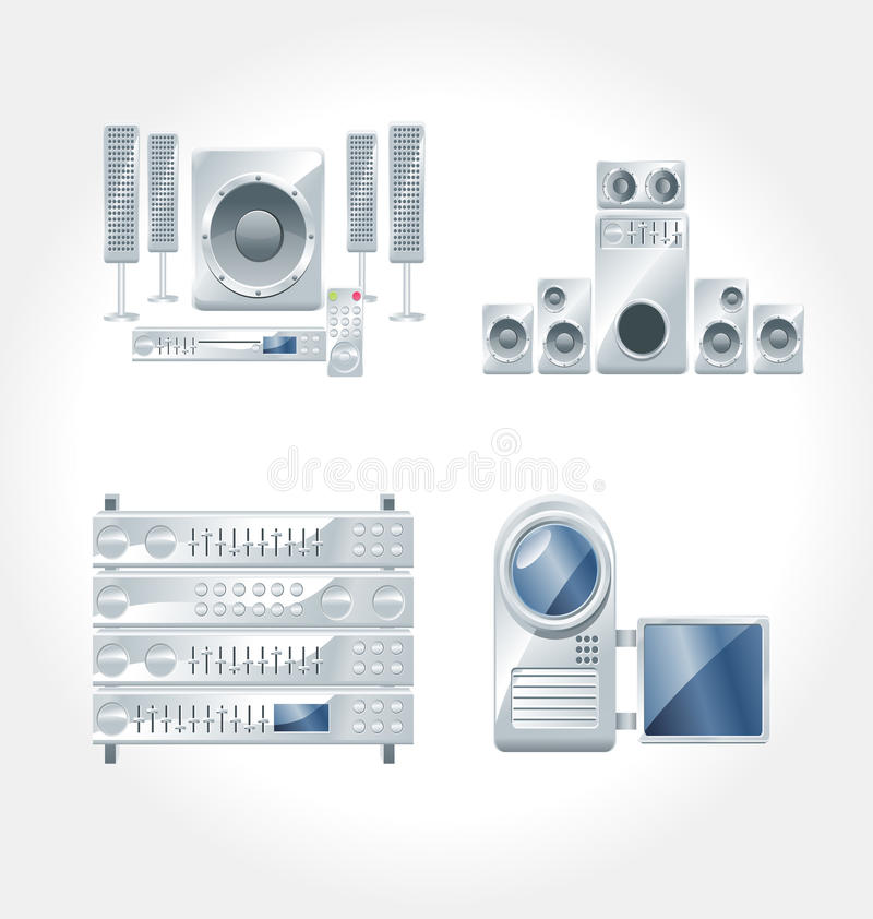 Electronic Appliances vector royalty free stock image