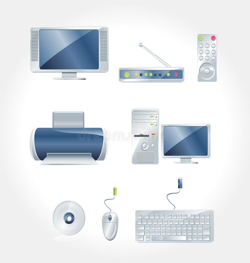 Electronic Appliances vector royalty free stock photos