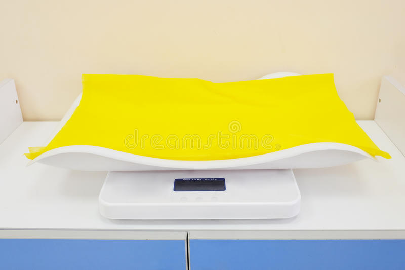 Electronic baby scale stock photography