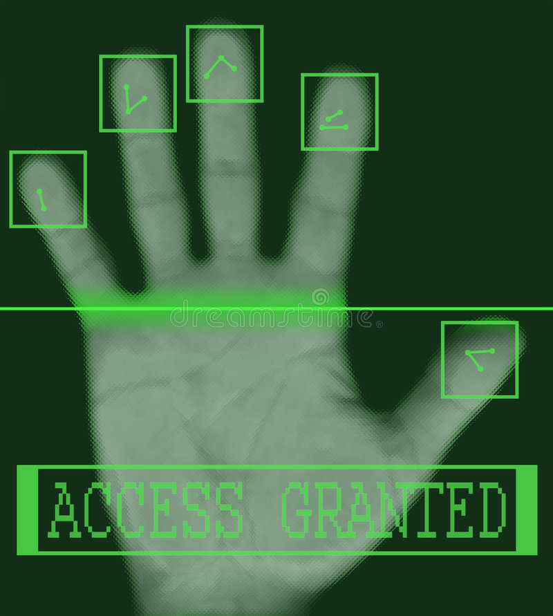 Free Electronic Biometric Fingerprint Scanning Royalty Free Stock Photography - 3633827