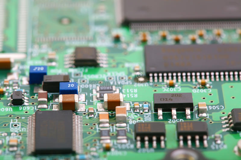 Electronic board. Close up photo stock image