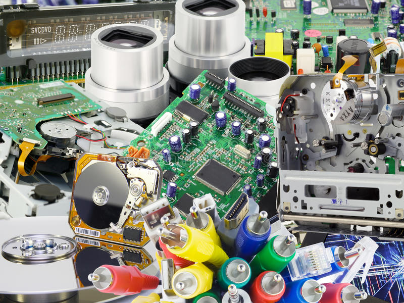 Download The Electronic Boards Collage Background Stock Images - Image: 13767024
