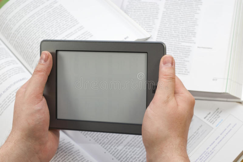 Electronic Book Reader royalty free stock images