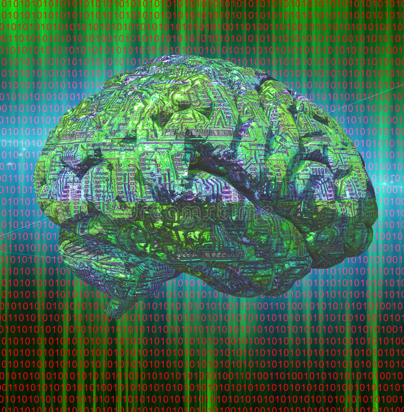 Electronic Brain stock illustration