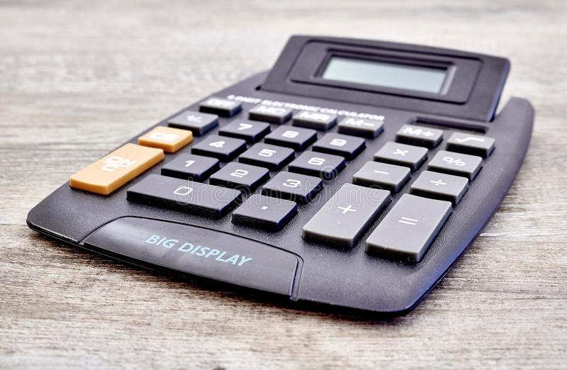 Electronic Business Calculator. A studio photo of an electronic business calculator stock photos