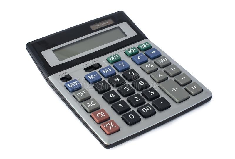 Electronic calculator. Used for mathematical calculations on solar cells royalty free stock image