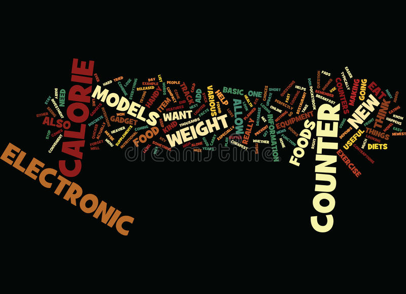 Electronic Calorie Counter Word Cloud Concept royalty free stock photo