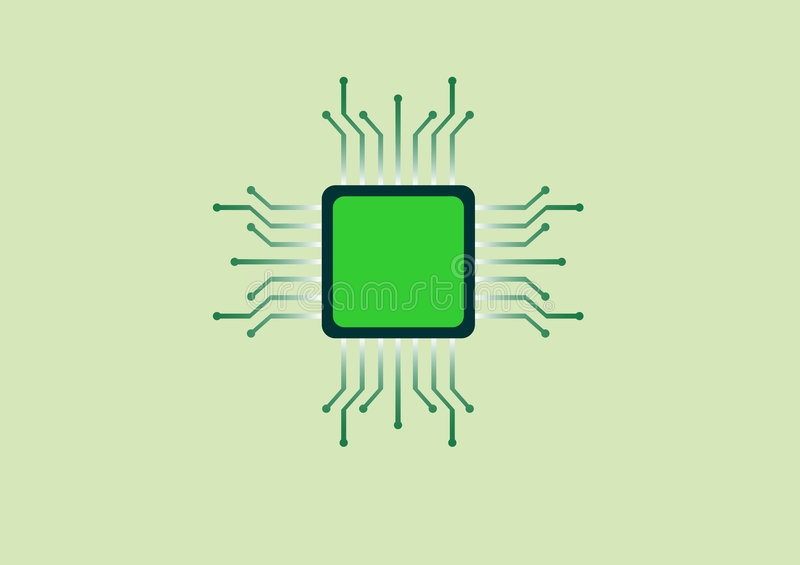 Electronic chip vector illustration