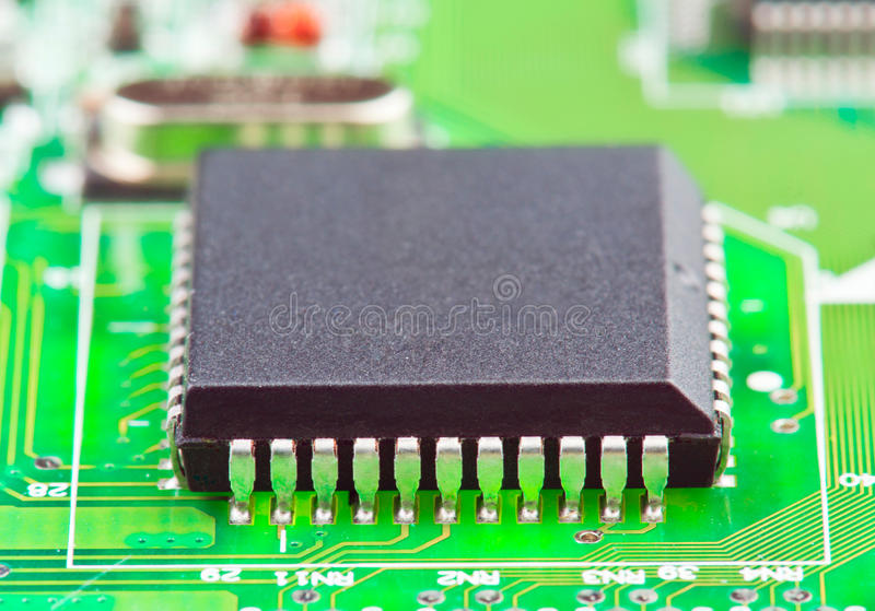 Electronic Chip On Board Royalty Free Stock Photos