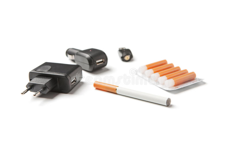 Electronic cigarette stock images