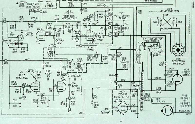Electronic Circuit Schematic Detail Diagram Stock Photo - Image of ...