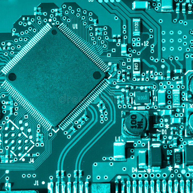 Electronic circuit. It is possible to use as a background royalty free stock photos
