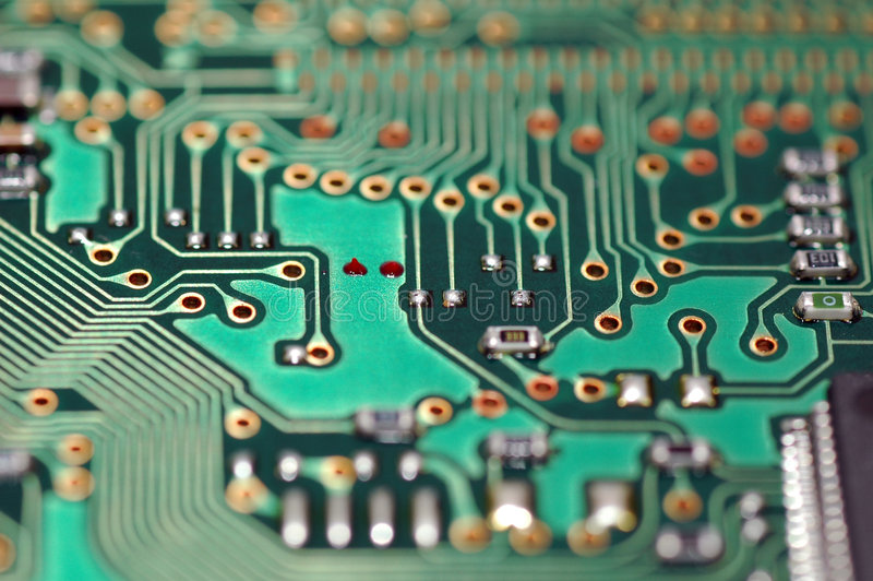 Electronic Circuit. A macro shot of an electronic circuit stock photography