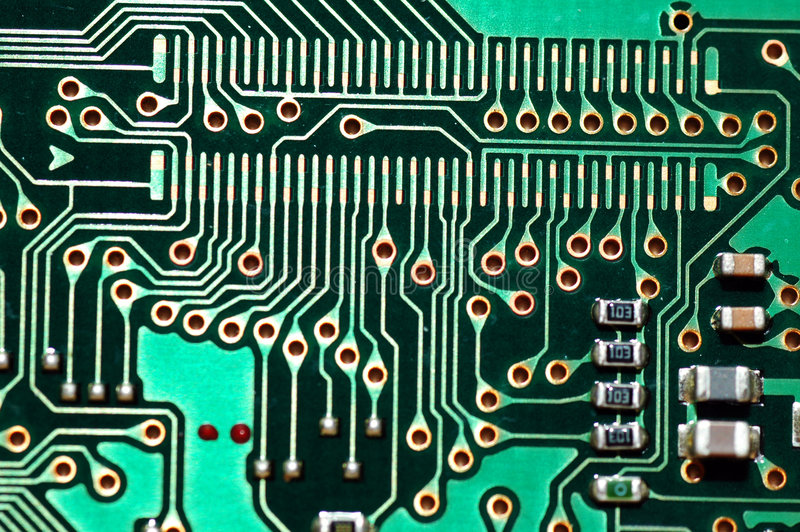 Electronic Circuit. A macro shot of an electronic circuit royalty free stock photography