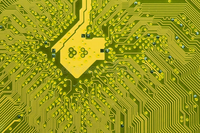 Electronic circuit board. Details of a complex electronic circuit board royalty free stock photo