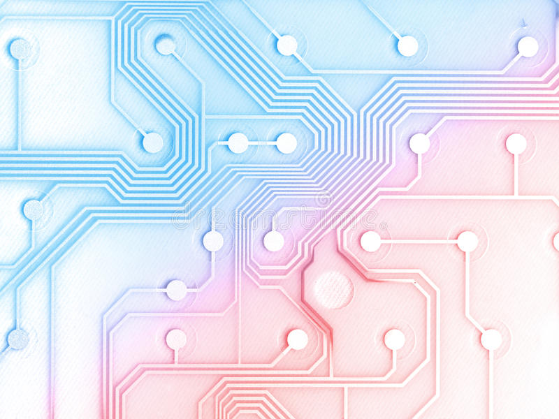 Electronic Circuit Board. With a little burn royalty free illustration