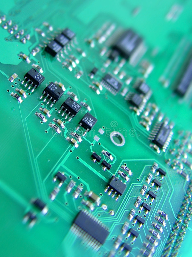 Electronic circuit board stock image