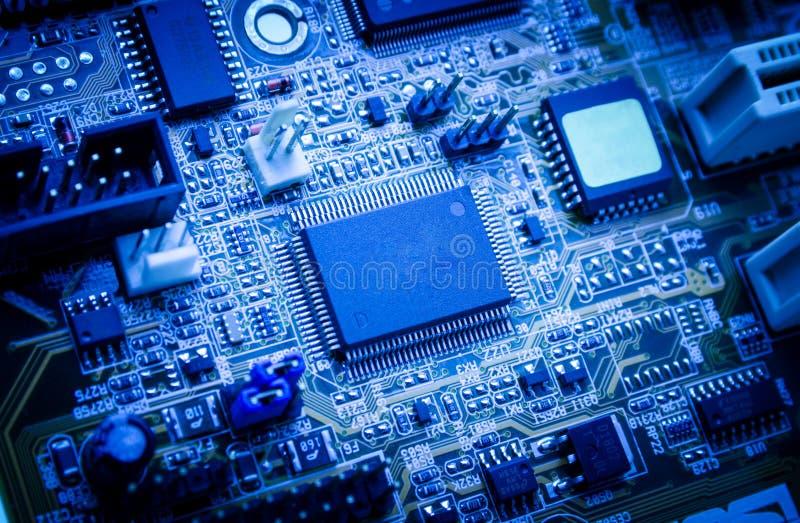 Electronic circuit board. royalty free stock photos