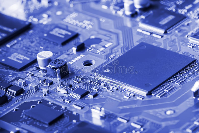 Electronic circuit board close up. Background can use the Internet, print advertising and design stock photos