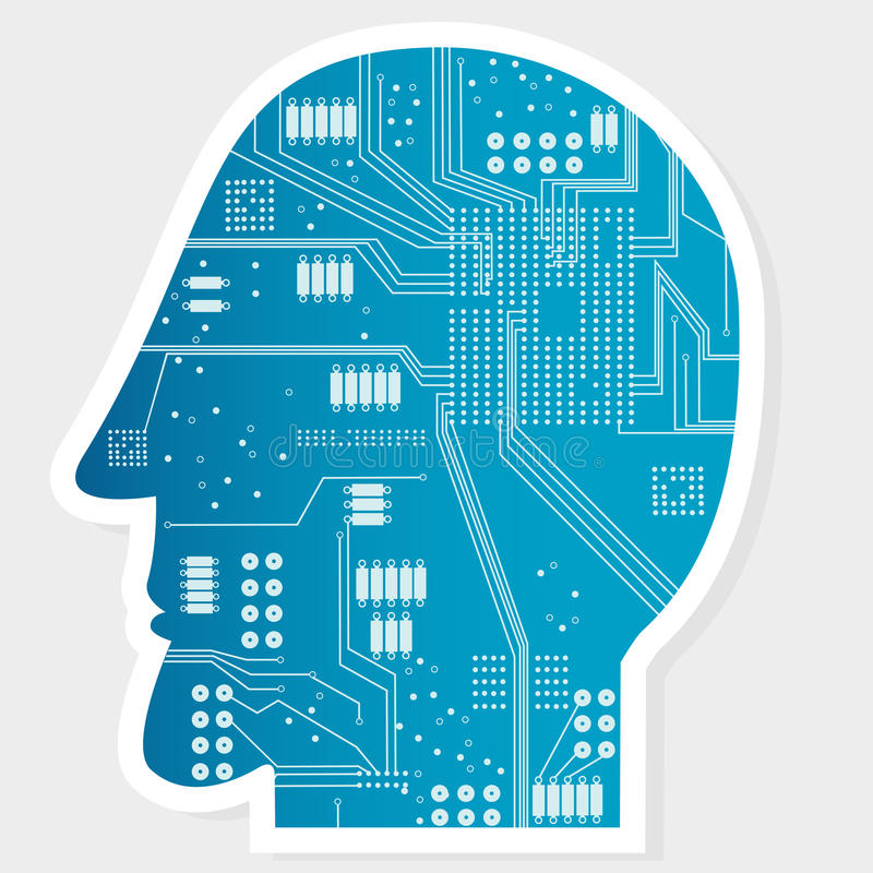 Electronic Circuit Board at Head stock illustration