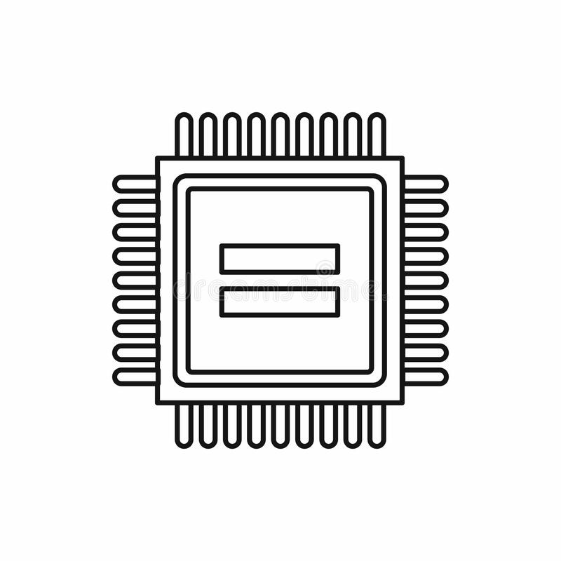 Electronic circuit board icon, outline style. Electronic circuit board icon in outline style isolated vector illustration royalty free illustration