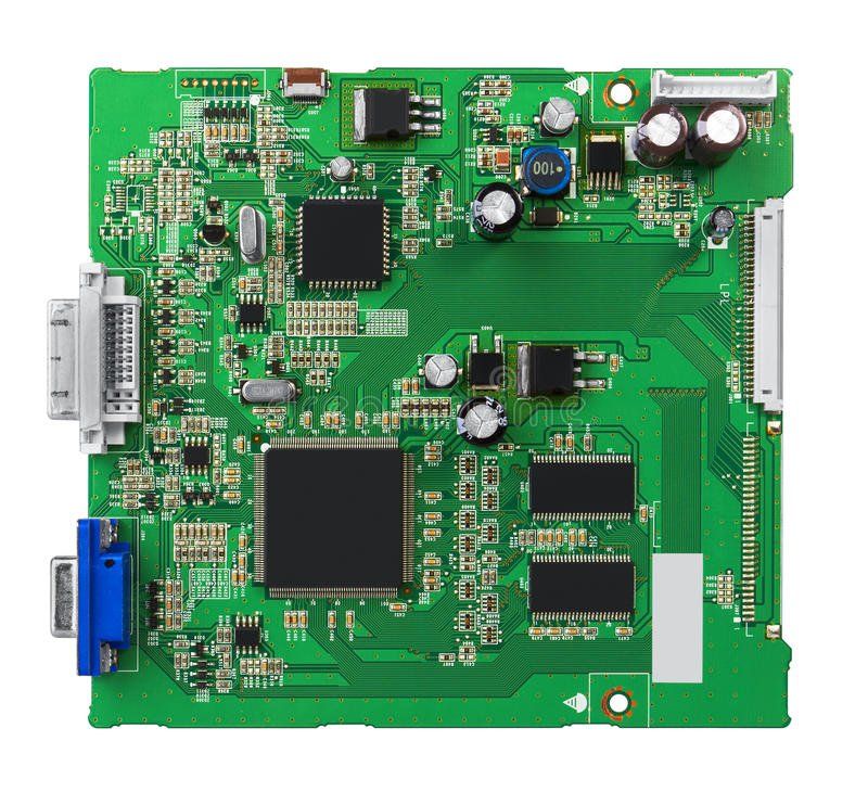 Free Electronic Circuit Board With Processor Royalty Free Stock Photos - 51408268