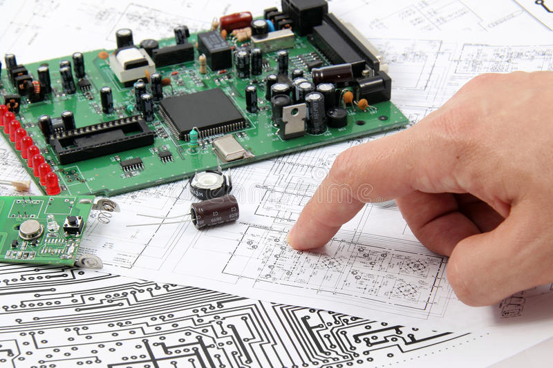 Electronic circuit boards stock image