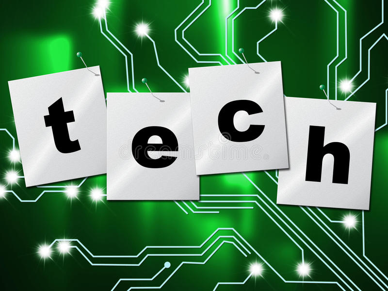 Electronic Circuit Means High Tech And Digital. Electronic Circuit Representing High Tech And Technological vector illustration