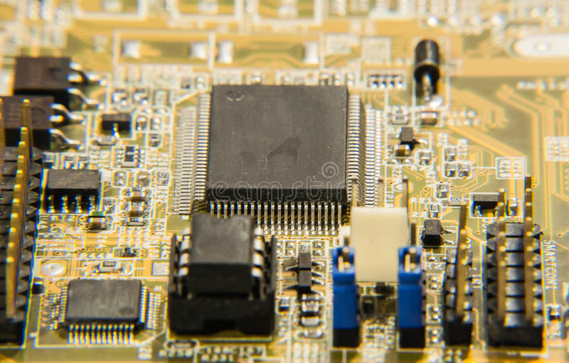 Electronic circuits stock photography