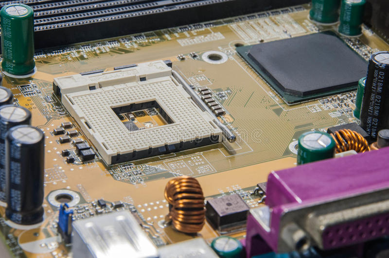 Electronic circuits stock images