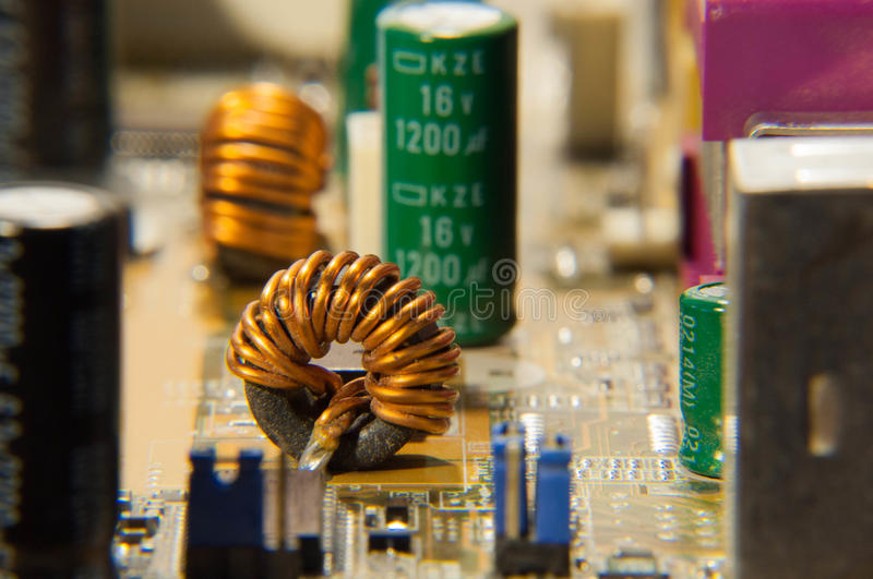 Electronic circuits royalty free stock images