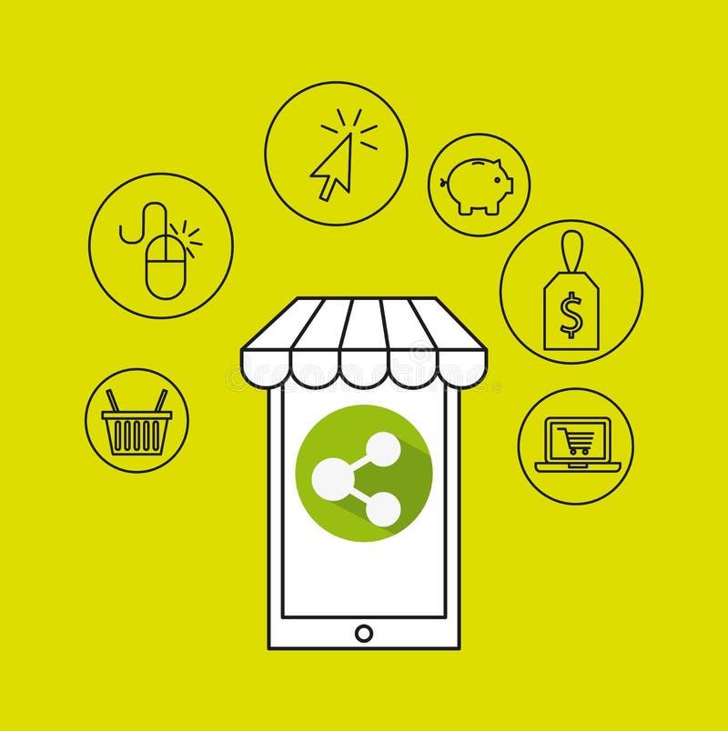 Electronic commerce design. Illustration eps10 graphic stock illustration