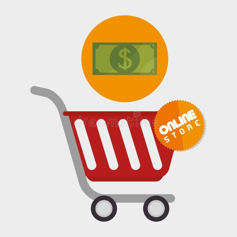 Electronic commerce design. Illustration eps10 graphic royalty free illustration