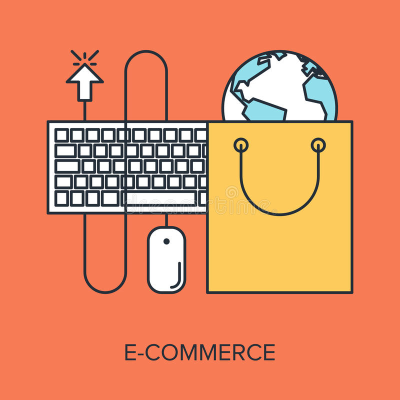 Electronic Commerce stock illustration