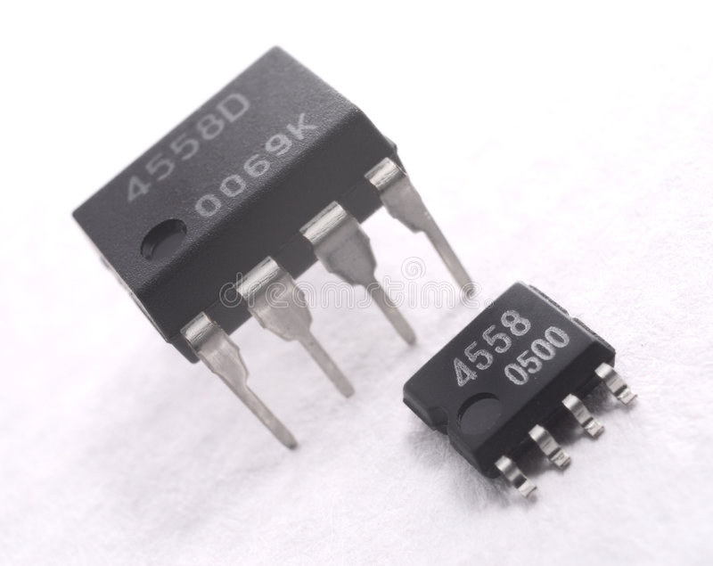 Electronic component. It is electronic components, IC. difference package stock images