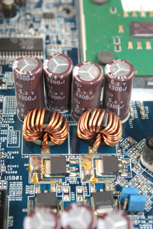 Electronic Components Circuit Board And Scheme Stock Photo 53890195