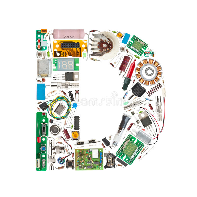 Download Electronic Components Letter Stock Illustration - Illustration of diodes, hardware: 22247416