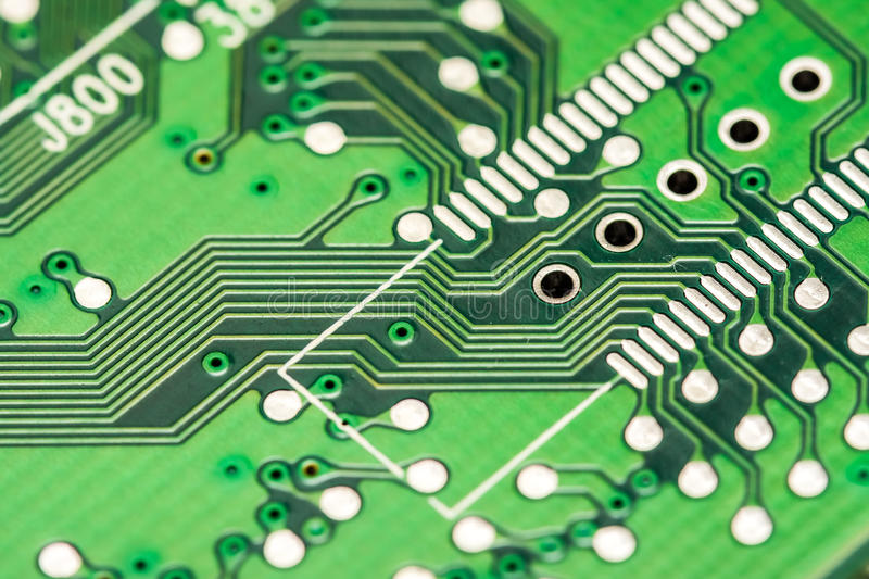 Electronic Computer Circuit Board. Close Up royalty free stock photo